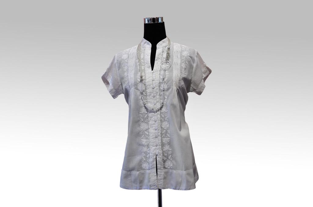 Camicia in cotone battista